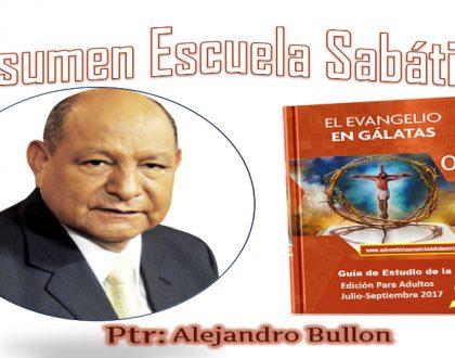 Resumen Esc. Sab. Ptr. Alejandro Bullón - Sábado 5 de Agosto del 2017